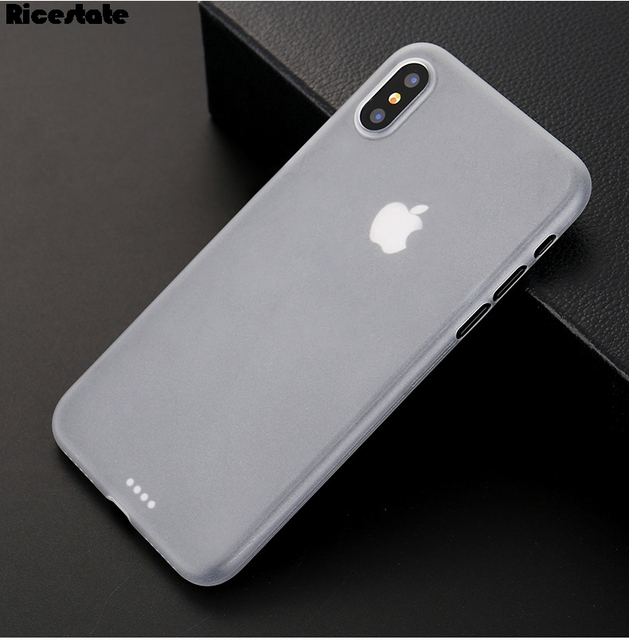 new styles ae2c6 5c81a US $0.77 12% OFF 0.3mm Ultra thin Matte Case For iPhone X XR XS MAX case  For iphone 6 6S 7 8 Plus Matte Back Cover Protect Skin Translucent Case-in  ...