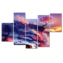 DIY Diamond Embroidery Pink Tree 5D Diamond Painting Cross Stitch Mosaic Pattern Full Square Rhinestone Home Decor RS688