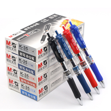 12pcs/box M&G K-35 0.5mm push type neutral pen students office special