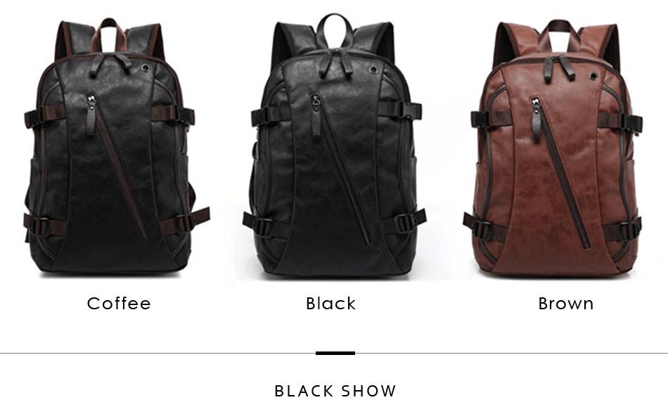 a5076383b7 FANKE POLO Korean style 2017 Male Functional bags Fashion Men backpack PU  Leather backpack big capacity Men bags FB170702