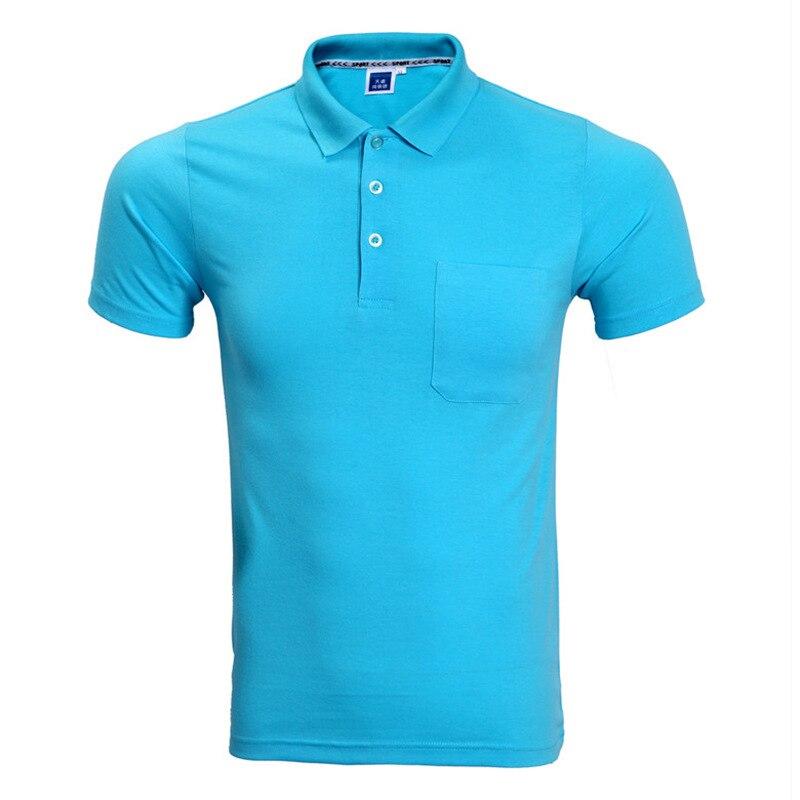 Brand   Polo   Shirt Men 2017 Summer Short Sleeve   Polo   Homme Slim Fit Style Pocket Camisa   Polo   Masculino Sky Blue XXXL