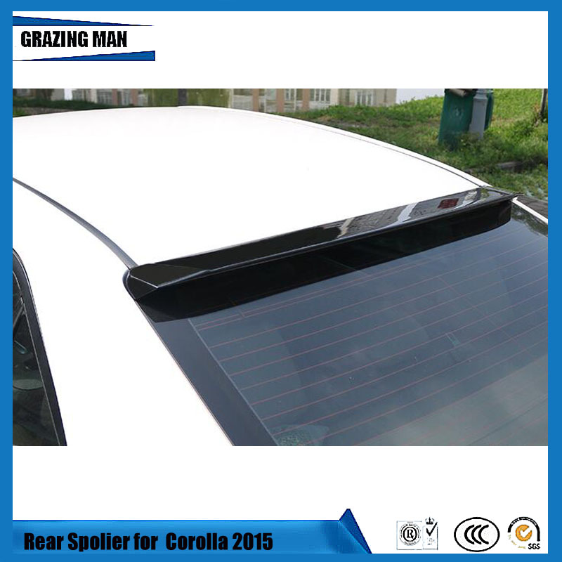 ABS Primer Unpainted Color Rear Roof Trunk Lip Body Wing Wiper Sedan <font><b>Spoiler</b></font> For <font><b>Toyota</b></font> <font><b>Corolla</b></font> 2014 <font><b>2015</b></font> 2016 2017 14 15 16 17 image