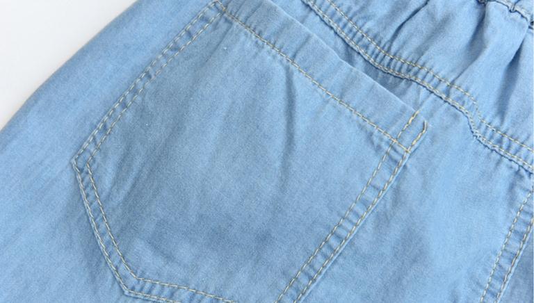 Light Blue Deep Blue Kawaii Bunny Embroidery Jeans Pants Women Summer Casual Straight Pants With Pockets Fashion Ninth Pants14