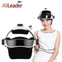 AliLeader Head Massager Vibrating Music Device Electric Head Scalp Massager Brain Massage Improves Sleep Air Pressing Massage