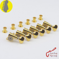 1 Set Original Genuine 6 In line GOTOH SGS510Z S5 HAPM Locking Height Adjust Guitar Machine Heads Tuners (Gold) MADE IN JAPAN