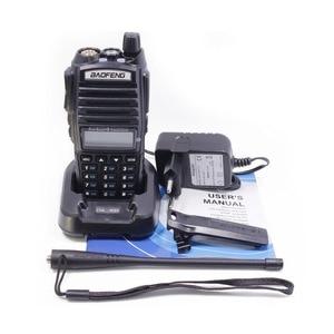 Image 5 - 1 adet/2 adet Walkie Talkie Baofeng UV 82 radyo istasyonu 5W taşınabilir Baofeng UV 82 radyo amatör BF UV82 çift PTT İki yönlü radyo 2 PTT