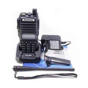 Image 5 - 1 sztuk/2 sztuk Walkie Talkie Baofeng UV 82 stacja radiowa 5W przenośny Baofeng UV 82 radia amatorskie BF UV82 Dual PTT Two Way Radio 2 PTT