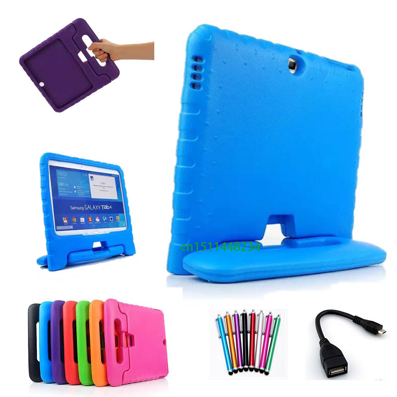 for Samsung Galaxy Tab 4 10.1 SM-T530 T531 T535 Case Cover high quality EVA Foam Silicone Handle Stand Kids Shockproof Cover аксессуар чехол samsung galaxy tab a 7 sm t285 sm t280 it baggage мультистенд black itssgta74 1