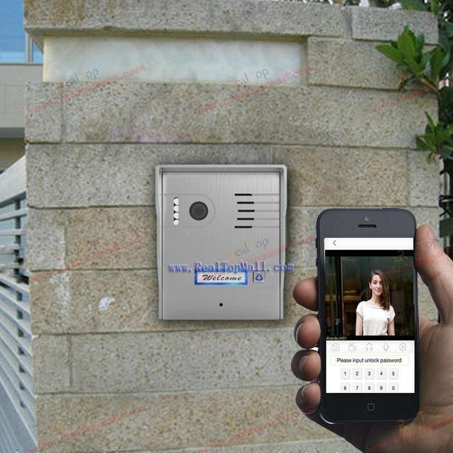 Wi-fi ip видеодомофон впервые в мире поддержка двусторонней голосовой связи wireless video door phone