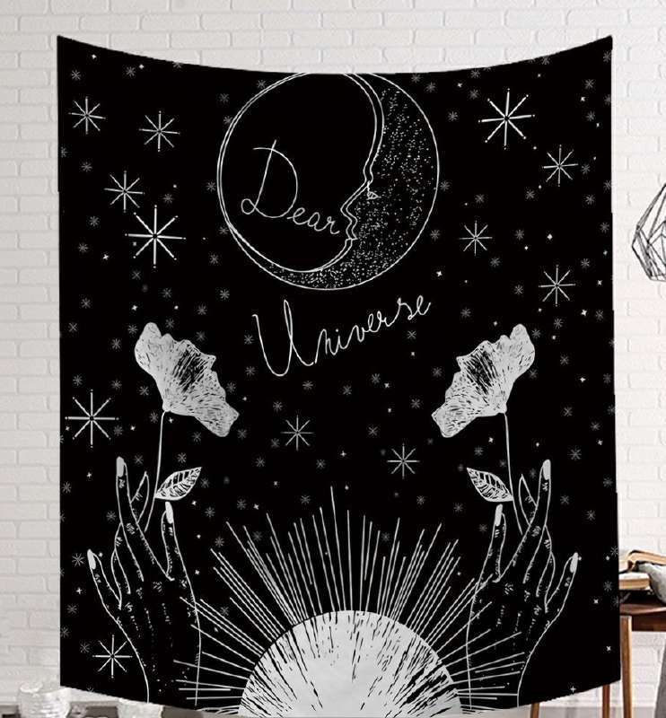 Image 2 - CAMMITEVER Power God Tapestry High Quality Fabric Wall Carpet Table Cloth Beach Cloth Dark Constellation Shawl/Blanket-in Tapestry from Home & Garden