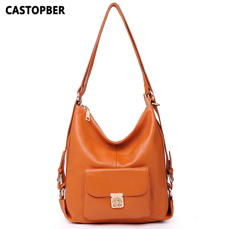 First Layer Genuine Leather Women Bag Women Cowhide Female Handbags Bags Shoulder Designer Famous Brand Ladies Bag High Quality