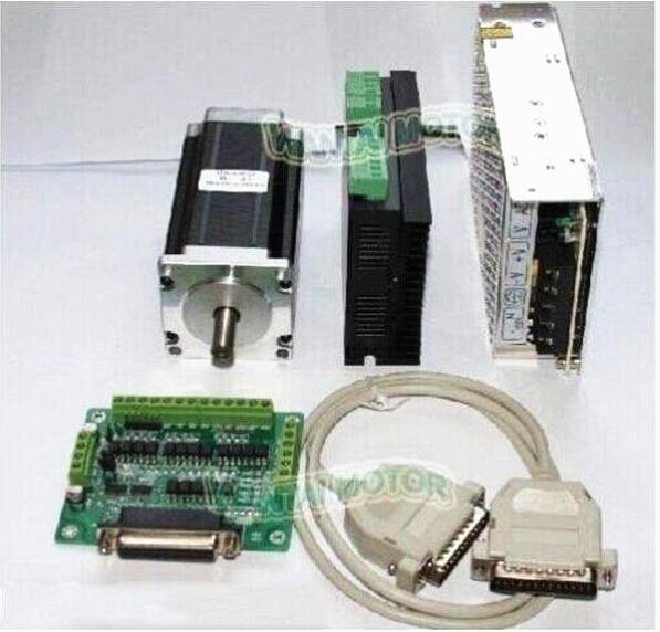 Hot sell!1Axis Nema23 Stepper Motor 57BYGH627 1.9NM 270oz-in 76mm 3.0A +Driver DQ542MA 4.2A50V 128micro+power supply milling cutHot sell!1Axis Nema23 Stepper Motor 57BYGH627 1.9NM 270oz-in 76mm 3.0A +Driver DQ542MA 4.2A50V 128micro+power supply milling cut