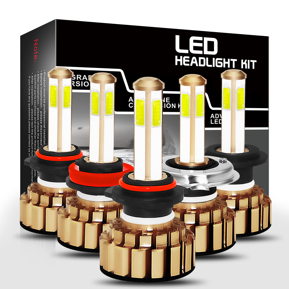 H7 H8 H9 H11 HB3 9005 H10 HB4 9006 H4 9003 HB2 Hi Lo COB Car LED Headlight Bulbs 80W 8000lm Car Auto Headlamp Led Lights Bulb in Car Headlight Bulbs LED from Automobiles Motorcycles