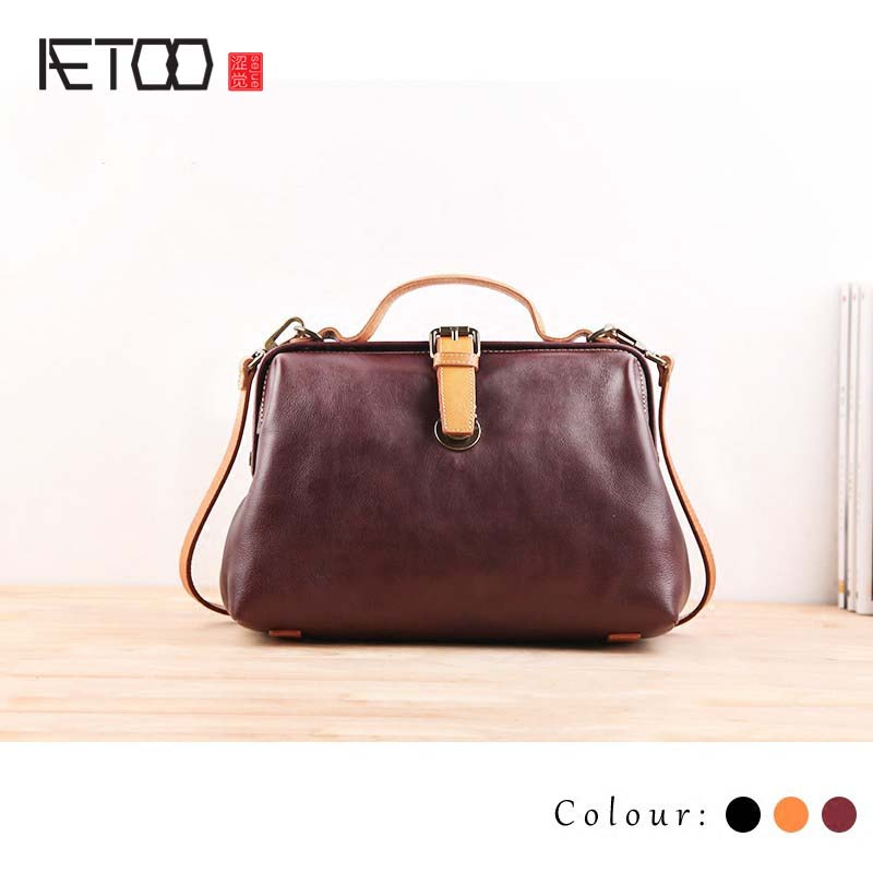 AETOO Female soil handbag bag 2017 new Korean version of the personality of the atmosphere of the soft skin large capacity of th ndefo okigbo the mechanics of construction soil