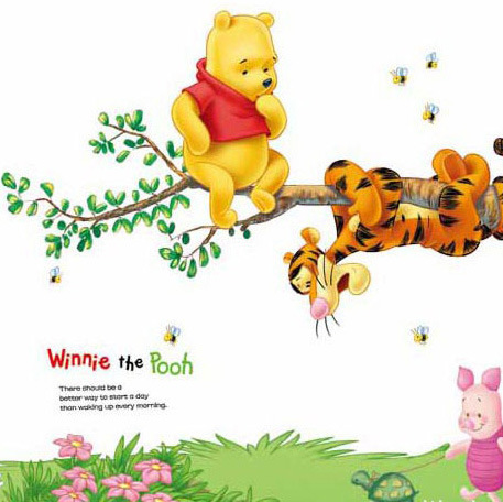 Large Winnie The Pooh Removable Wall Sticker Vinyl Decal Baby Kids Nursery Decor