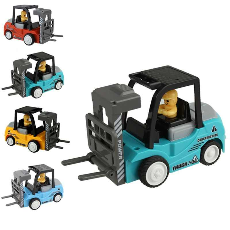 1 Pcs/set Mini Teknik Mobil Model Traktor Mainan Dump Truk Model Klasik Mainan Kendaraan Mini Hadiah untuk Anak Laki-laki