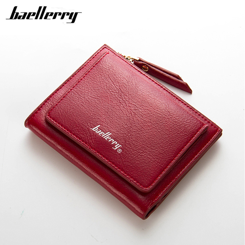 Brand Women Short Wallets PU Leather Female Purses Nubuck Card Holder Wallet Fashion Woman Small Zipper Wallet With Coin Purse