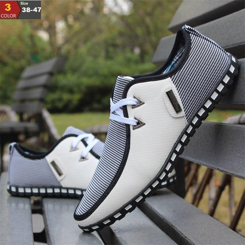 Moda Zapatos Planos de Los Hombres Se Deslizan En los Holgazanes de Conducción P