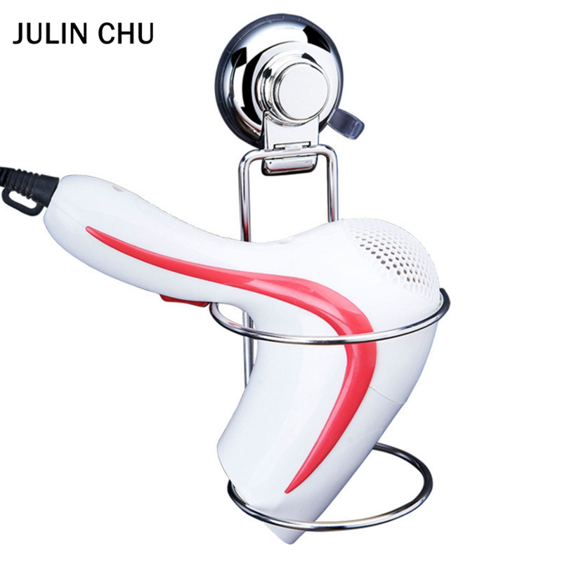 304 Stainless Steel Hair Dryer Holder Suction Cup Chrome Vacuum Hair Dryer Shelf Creative Hairdryer Holders for Bathroom Hotel creative fashion portable stainless steel vacuum cup