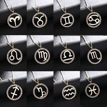 Collier avec pendentif Constellation 12 Design collier en cuivre zircon cubique signe du zodiaque cadeau d