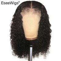 Eseewigs шелк базы парики полный шнурок человеческих волос парики предварительно сорвал бразильский Волосы remy для черный Для женщин Шелковый т