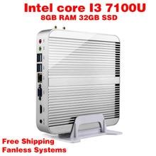 Мини-ПК Intel 7e Gen Кабы Lac Windows 10 i3 7100U 8 ГБ ОПЕРАТИВНОЙ ПАМЯТИ 32 ГБ SSD Графический 620 300 М Wi-Fi TV Box Бесплатная Доставка usb 3.0