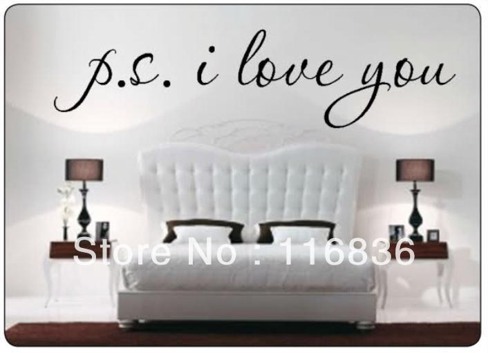 Promotion Ps I Love You Famous Wall Decal Quote Sayings Black