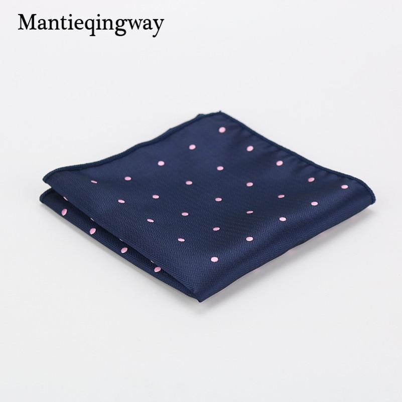 Mantieqingway Business Mens Suit Cotton Pocket Square Wedding Grooms Floral & Dot Handkerchief Leisure Pocket Towel Women Hanky