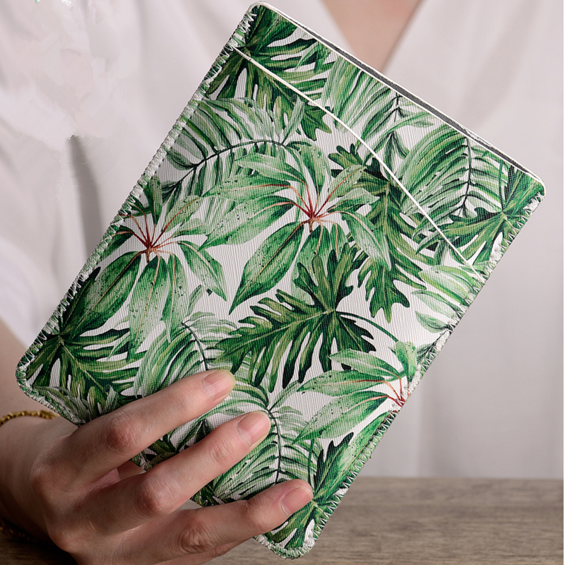 Greenery Style PU Leather 6  Tablet Pouch Sleeve Bag for Kindle Paperwhite 1/2/3 Case Ebook Cover 8 / Voyage Capa