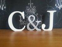 Новый свадебный подарок буквы белый дерево г-н и миссис знак топ украшение стола 12 см свадебные реквизит