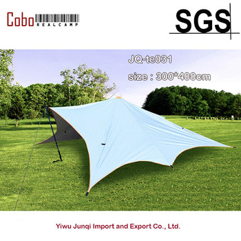 Large Camping Tent Multi-purposePU Waterproof Twin Peaks Large Canopy for Outdoor Sunshade Tent Shelter