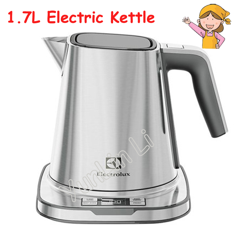 1.7L Electric Kettle Thermal Nsulation Teapot Stainless Steel Thermos Control Water Boiler Heating Tea Pot EEK7804S dmwd electric kettle eggs slow cooker teapot multifunction porridge stew pot hot water boiler timing milk heater 1 8l 110v 220v