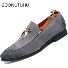 2019 new fashion men's shoes casual leather suede loafers male gray & black slip on shoe man comfortable shoes for men hot sale new fashion man handmade moccasin shoes cow suede leather round toe slip on loafers comfortable men s casual footwear js11