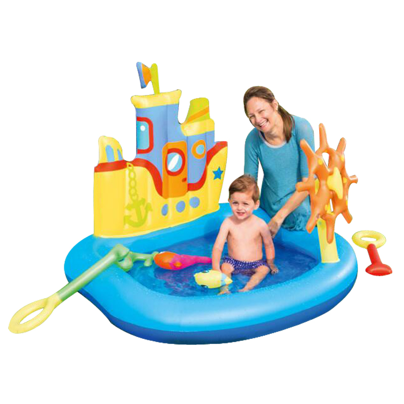 2017 new design Cool Castle swimming pool children swimming high quality children inflatable pool free shipping pvc inflatable ocean ball pool baby inflatable castle toy quality children jumping trampoline