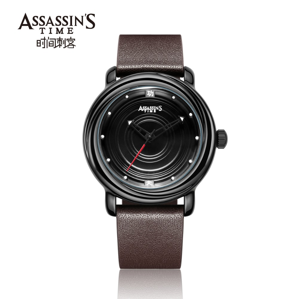 Assassin's Time Mens Luxury Vattentät Quartz Watch Man Läder Sport - Herrklockor - Foto 5