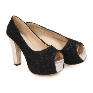 Image 3 - S apato Femininoขนาดใหญ่รองเท้าส้นสูงรองเท้าผู้หญิงปั๊มสุภาพสตรีC Haussure F Emmeกรงเล็บZ Apatos Mujer Tacones Sapatos Femininos F12