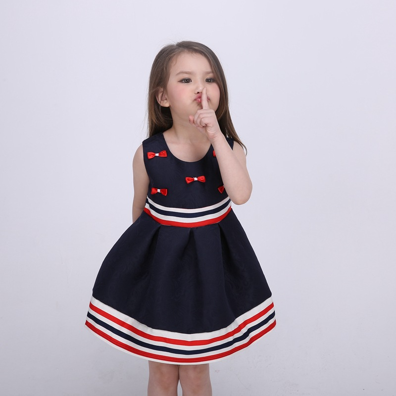 Dresses Hearty Fashion Summer Cool Solid Party Girl Dresses Children Baby Kids Girls Clothes Dresses Princess Black Short 1-7 Years Mother & Kids
