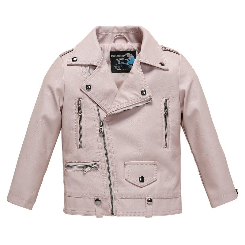 1e0466591016 Pink Leather Jacket For Girls