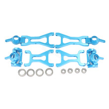 Aluminum Front Rear Steering Hub Base C Carrier Front Rear Lower Suspension Arm Upgrade Kit For