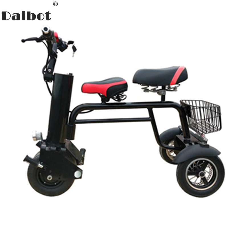 Nouvelle moto électrique Scooter trois roues Scooters électriques 450 W 60 V 3 roues Scooter électrique avec 2 sièges pour adulte