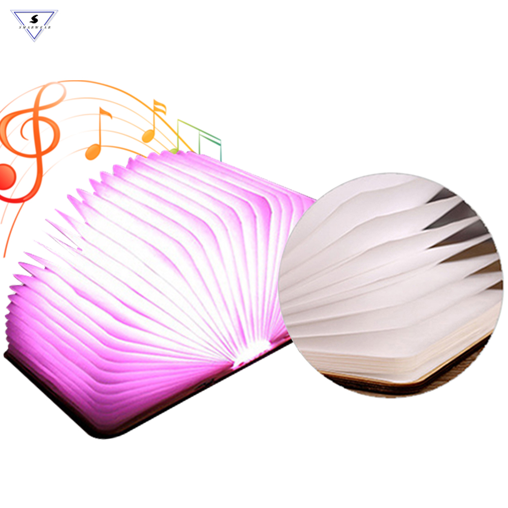 Bluetooth Speaker Folding Book LED Book Shape Novelty 7colours LED Night Light With Wireless BT Speakers with TF Card MP3 Play primary colours pupil s book level 4 primary colours page 7