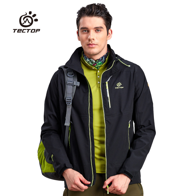 Tectop New Autumn Winter Outdoor Sport Waterproof Windproof Men Hiking jackets Breathable Man Single-layer Windbreaker Coats brand new autumn winter men hiking pants windproof outdoor sport man camping climbing trousers big sizes m 4xl free shipping