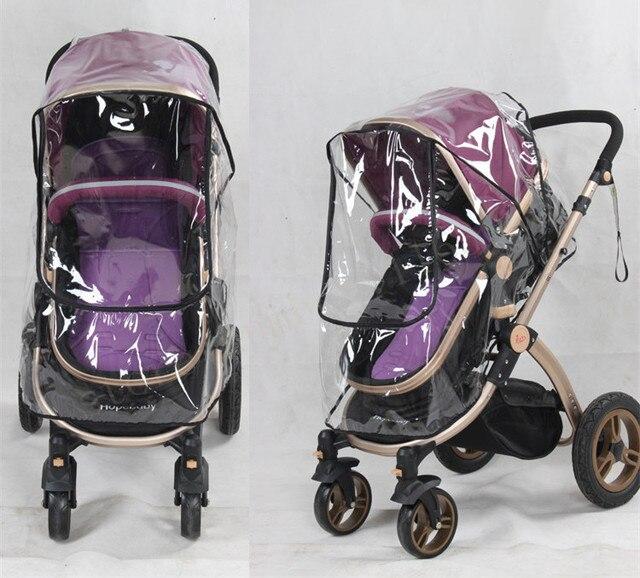Kinderwagen regenhoes PVC Universal Wind Dust Shield met windows Voor Kinderwagens Kinderwagens kinderwagen accessoires 1