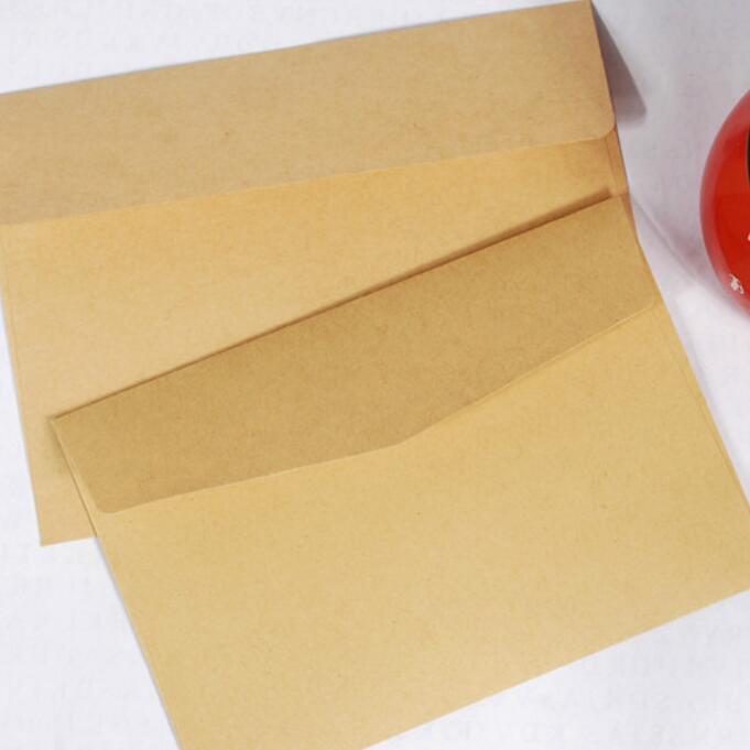 50 pçs/lote simples do vintage kraft papel envelope estudantes de casamento diy presente artesanal envelope 160*110mm escola e escritório fornecedor