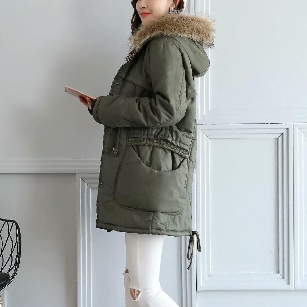 Manteaux Pour Capuchon D'hiver Coton Veste À Green Manteau Parkas Femelle Hiver Femmes Nouveau Army Épaississement gpHvqX