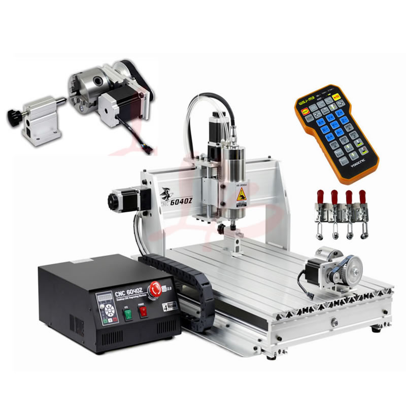 1.5KW 6040 CNC Router USB 2.2KW 4 Axis Mini CNC Metal Engraving Machine PCB Drilling Milling Machine for Woodworking 5 axis cnc 3040 metal mini diy cnc engraving machine 4 axis cnc router pcb milling machine engraving frame