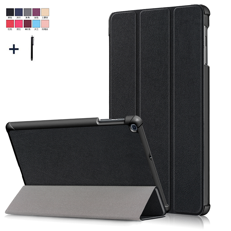 Case Cover For Samsung Galaxy Tab A 10.1'' 2019 T510 T515 Magnet Flip PU Leather Capa Fundas For SM-T510 SM-T515 Coque+Stylus image