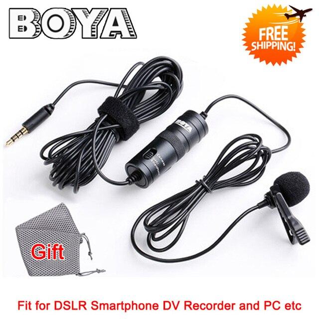 BOYA by-m1 Lavalier конденсаторный микрофон смартфона для iPhone 6S Plus для Samsung S6 и DSLR видеокамеры оборудование для Запись