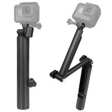 3 Way Foldable Pole/Monopod Adjustable Selfie Stick Extendable Arm Mount Hand Held Monopod for Action Camera