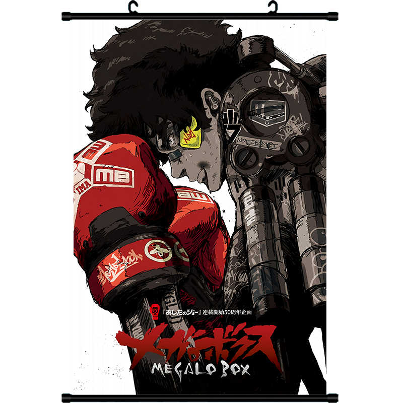 Japanese Anime Decor Wall Scroll Poster Megalo Box JOE printed cartoon canvas painting Animation Scroll Painting drop shipping